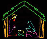 3 Pc Nativity with Stable