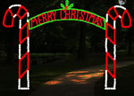 CANDY CANE ARCH 12FT MERRY CHRISTMAS