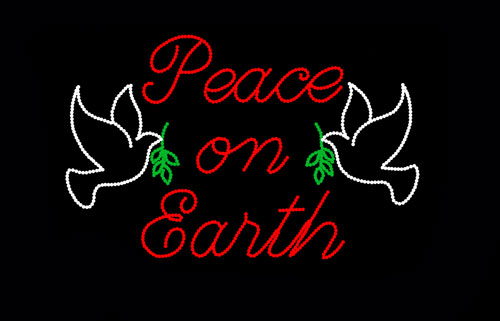 PEACE ON EARTH SIGN