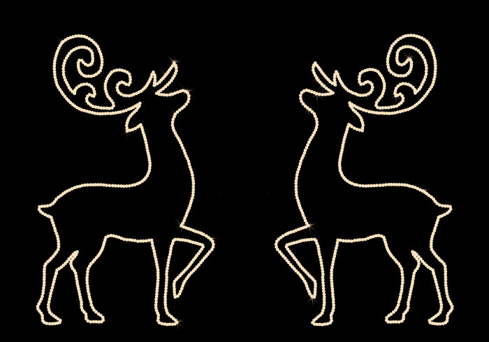 PRANCING DEER-SET OF 2