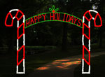 CANDY CANE ARCH-12FT HAPPY HOLIDAYS
