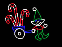 ELF PULLING WAGON