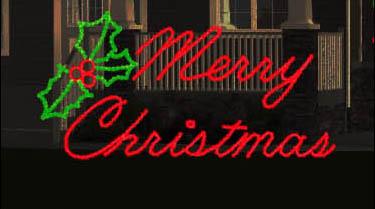 MERRY CHRISTMAS SCRIPT LED
