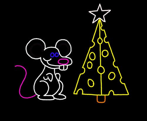 MOUSE AND CHRISTMAS CHEESE