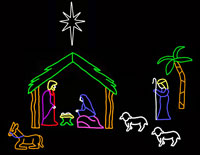 10 Piece Manger Scene-LED