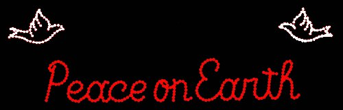 Peace On Earth Red Led