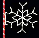 4 FT POLE MOUNT STAR SNOWFLAKE